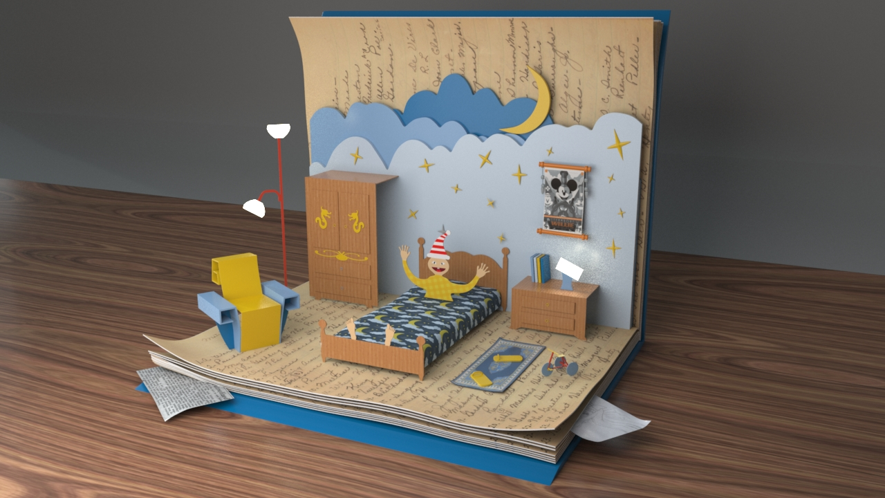 My Daughters Box Room Right Side: Jinguang Huang: Pop-up Book