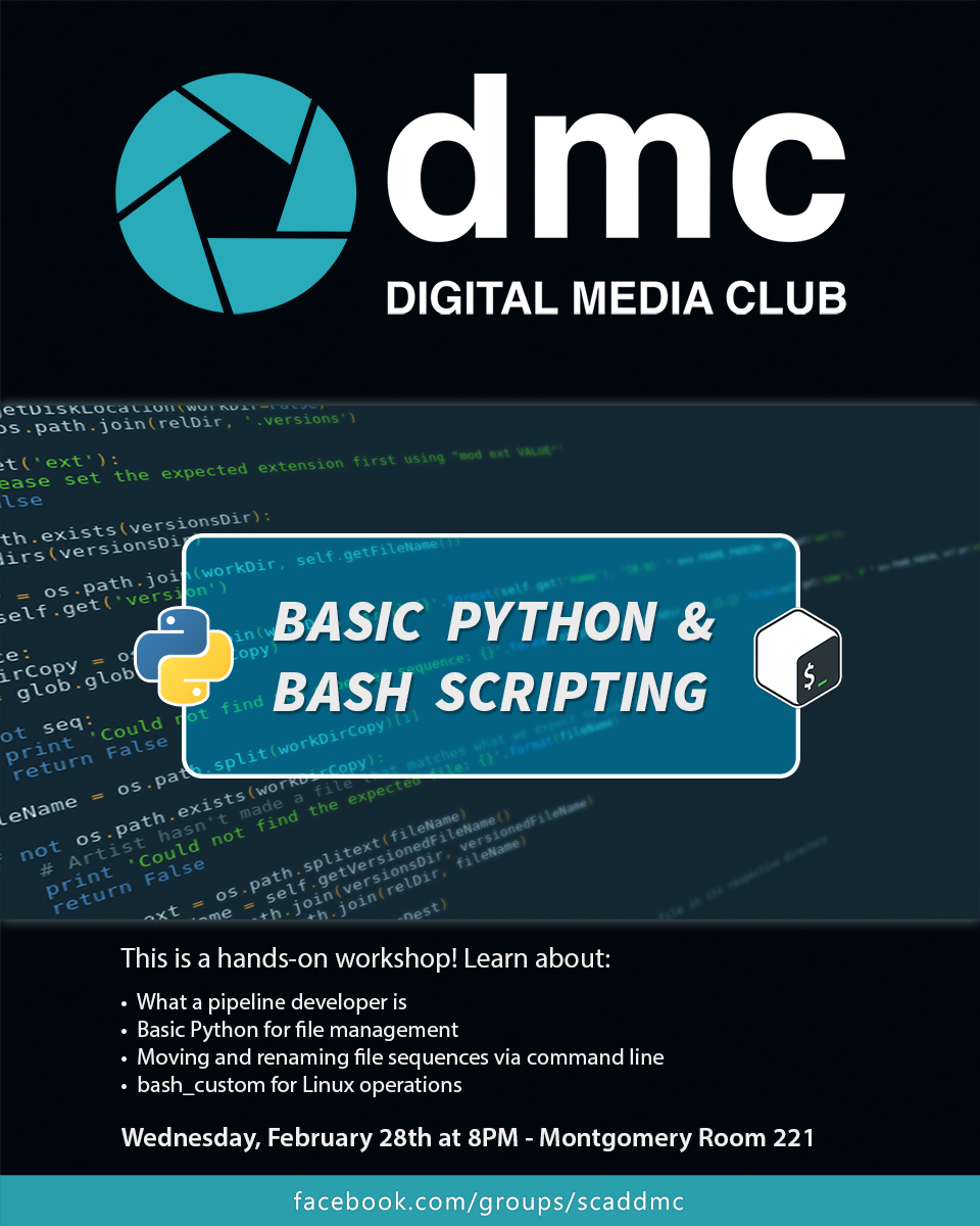 Digital Media Club – Basic Python & Bash Scripting