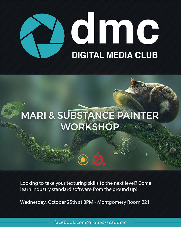 Digital Media Club – Mari & Substance Painter Workshop