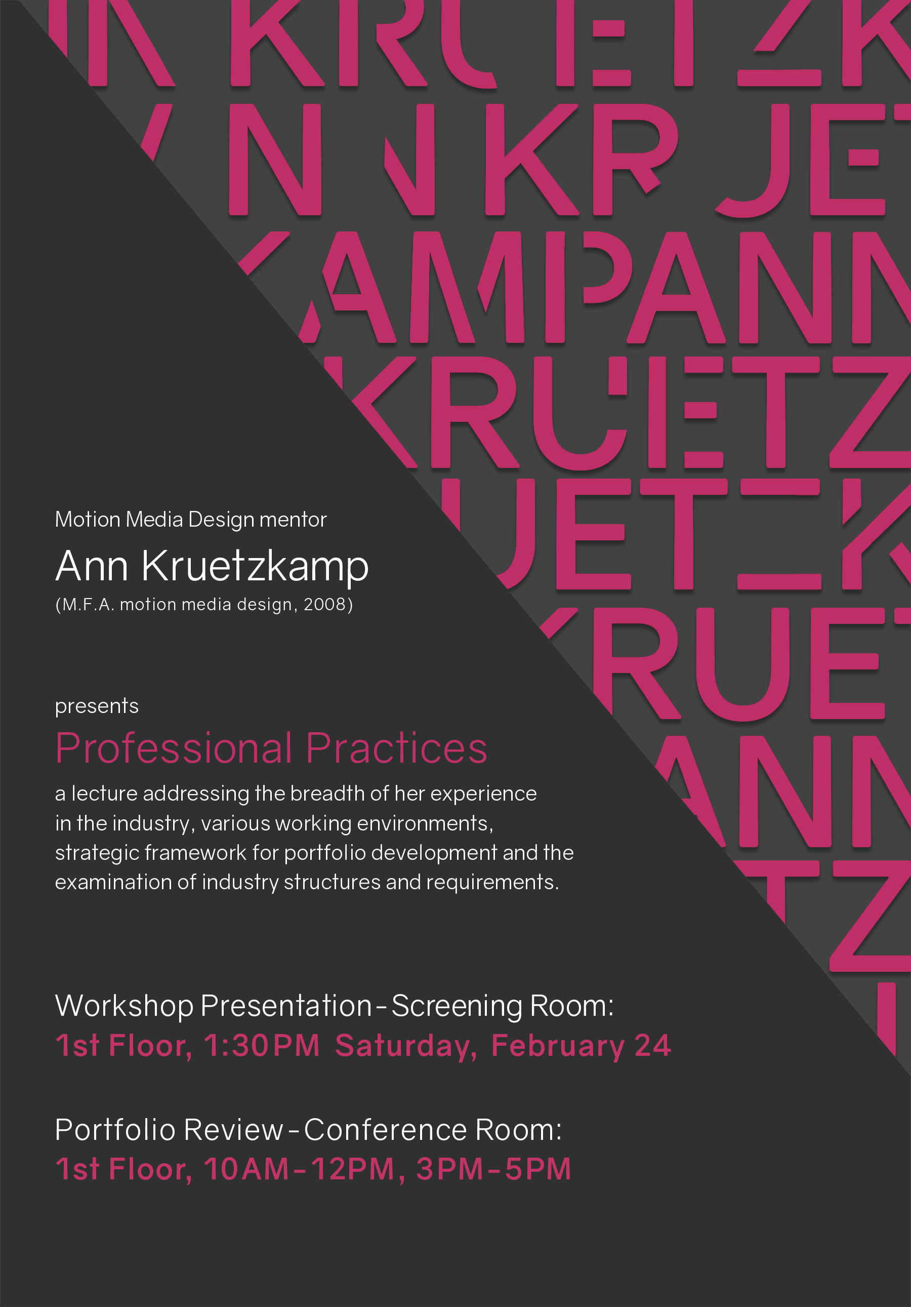 Motion Media Design Mentor – Ann Kruetzkamp