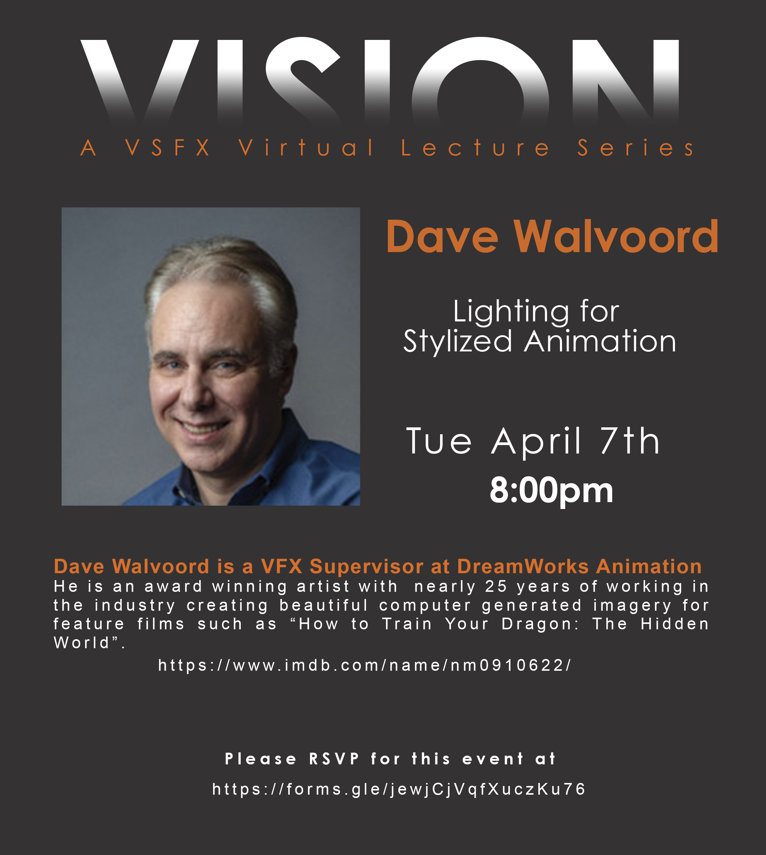 VSFX Virtual Lecture Series Presents – Dave Walvoord