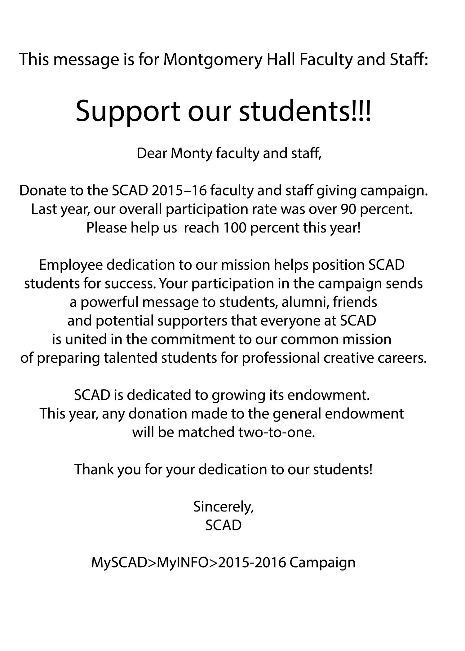 Support our Students!!!