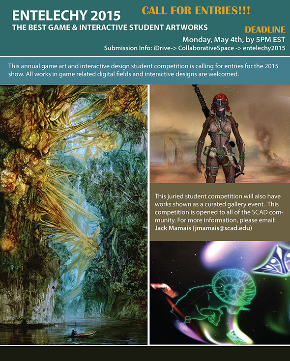 ENTELECHY 2015 – The Best Game & Interactive Student Artworks   –  Call For Entries!!!
