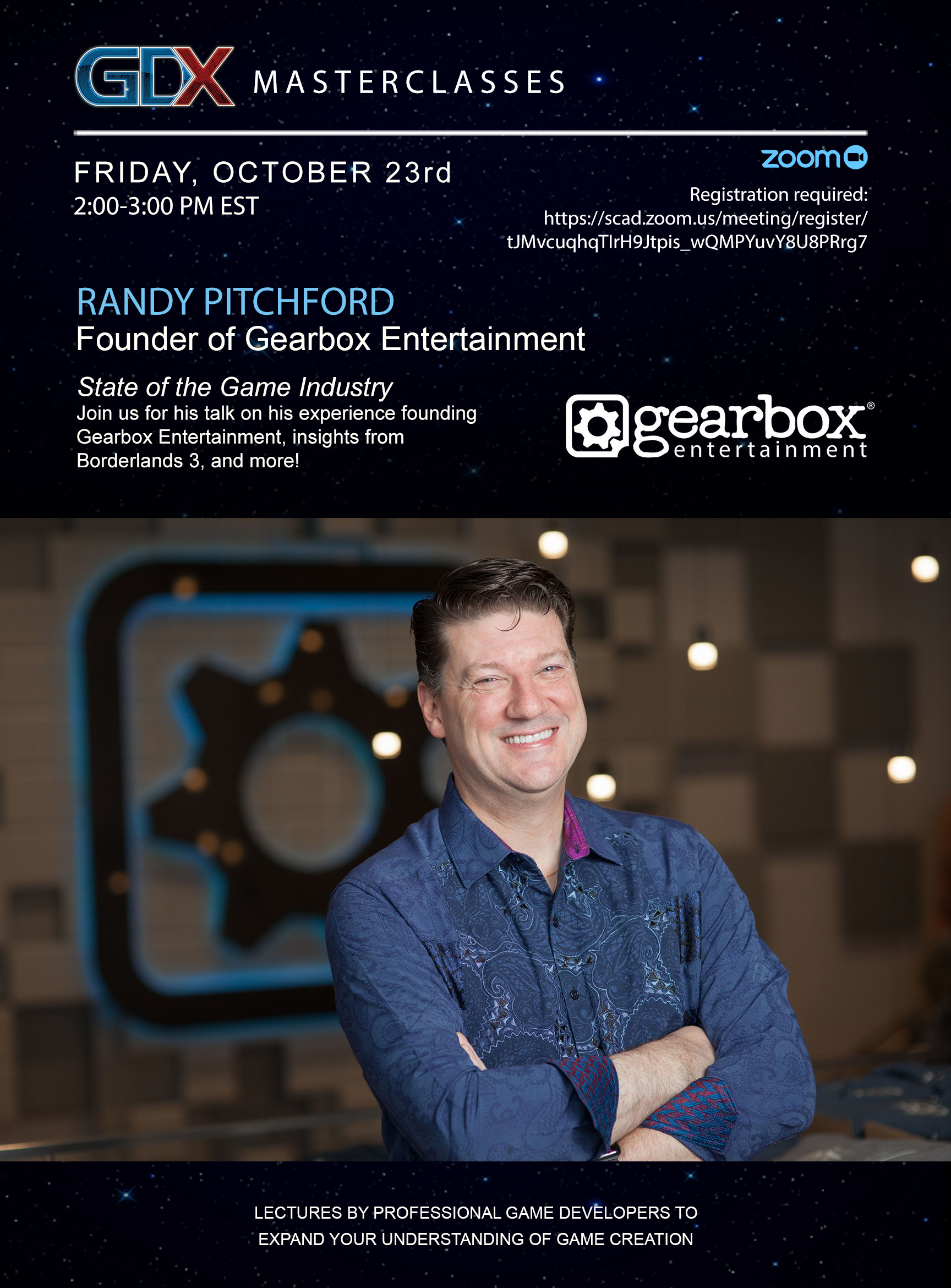 GDX Masterclasses presents – Randy Pitchford