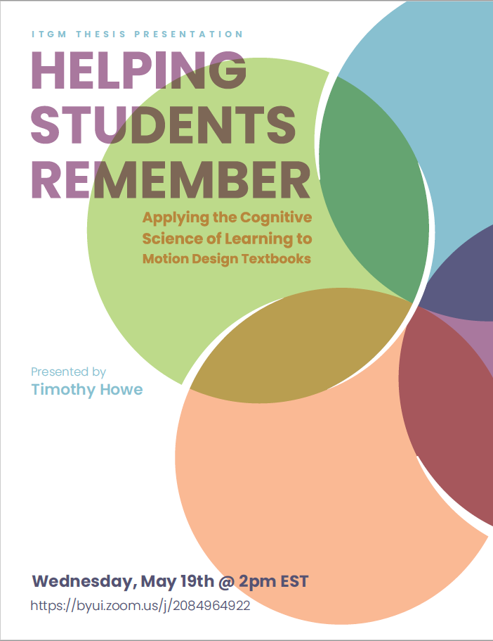 ITGM Thesis Presentation – HELPING STUDENTS REMEMBER