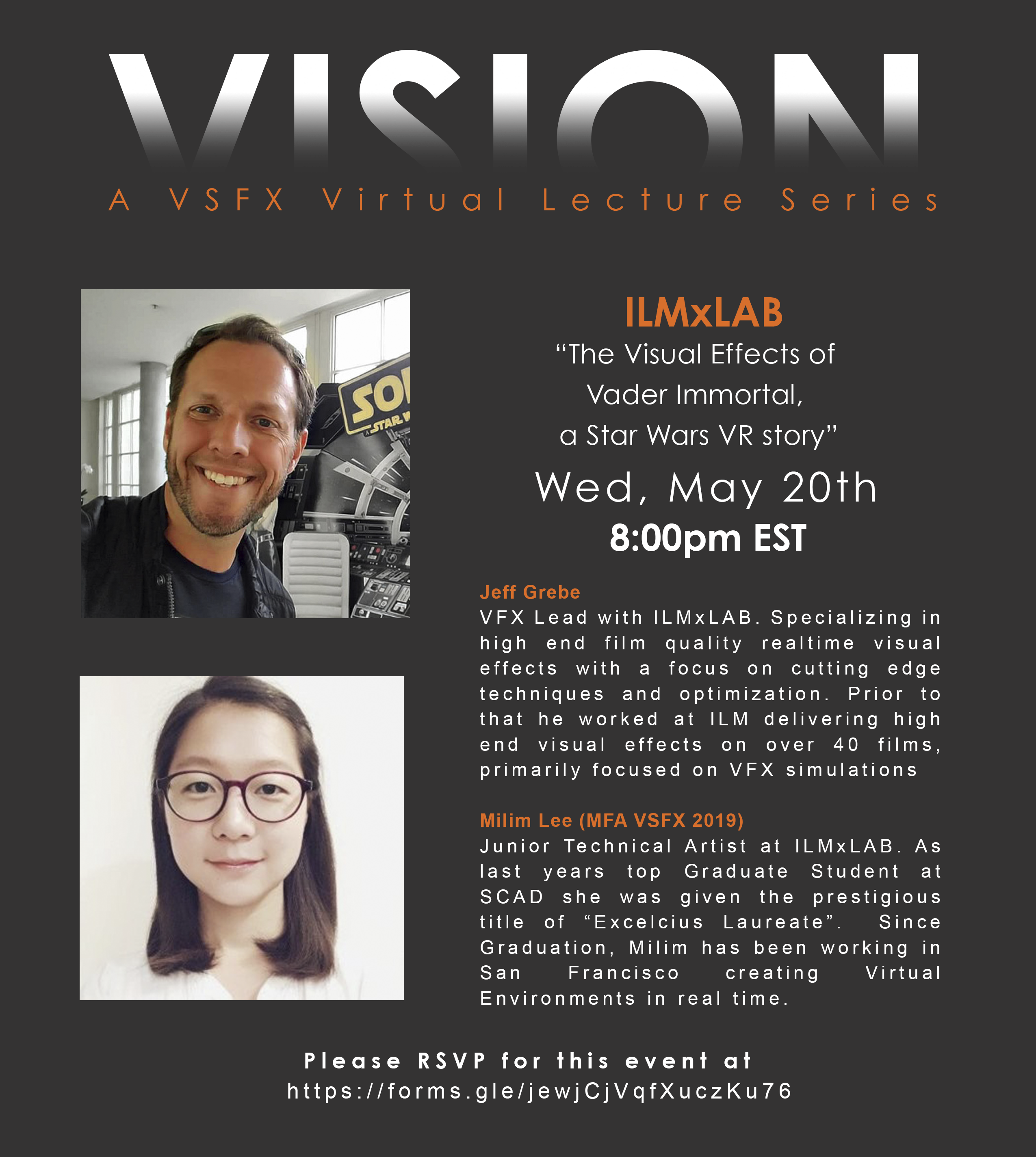 "VISION: VSFX Lecture ""The Visual Effects of Vader Immortal, a Star Wars VR Story"""