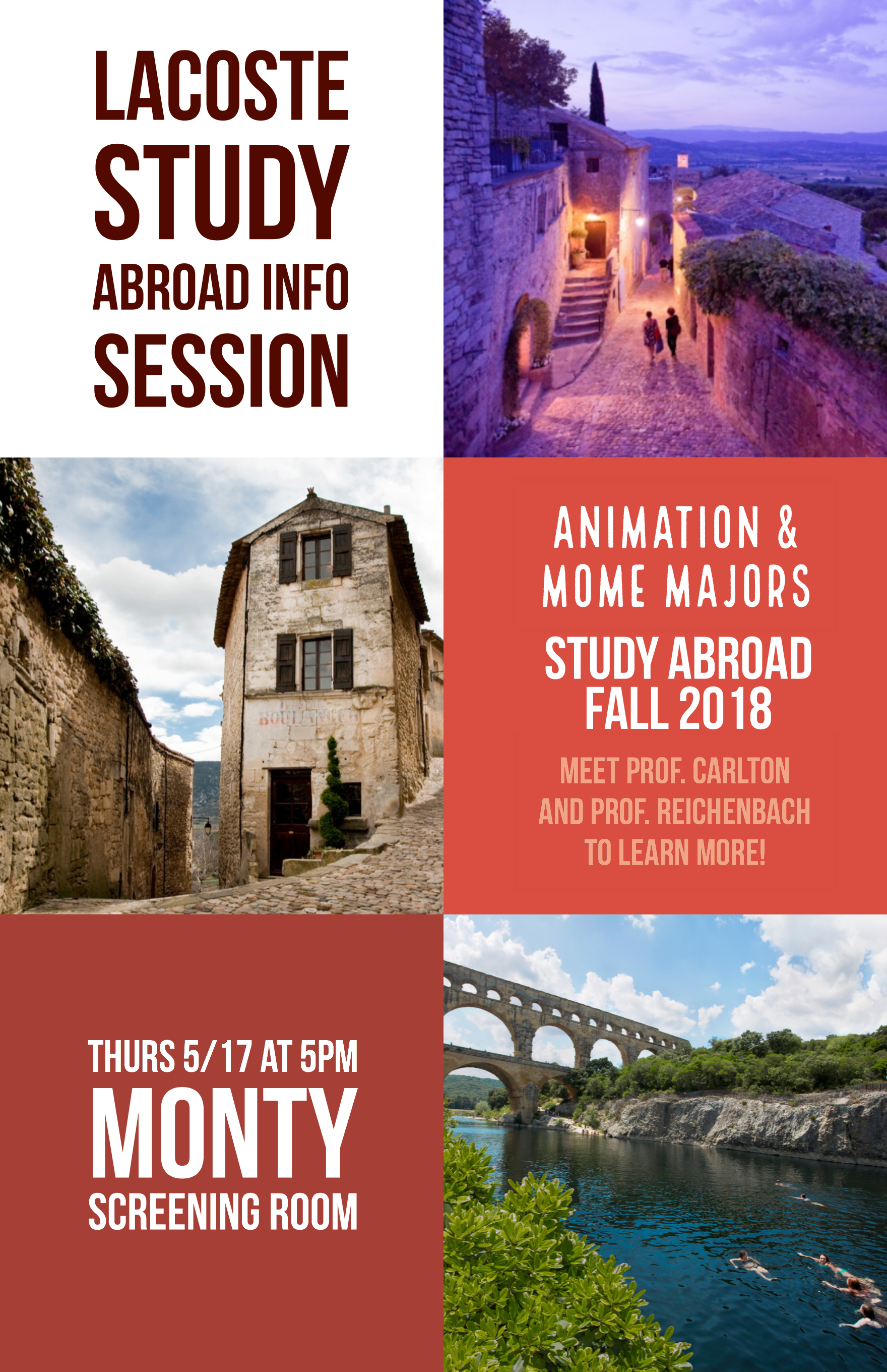 Lacoste Study Abroad Info Session