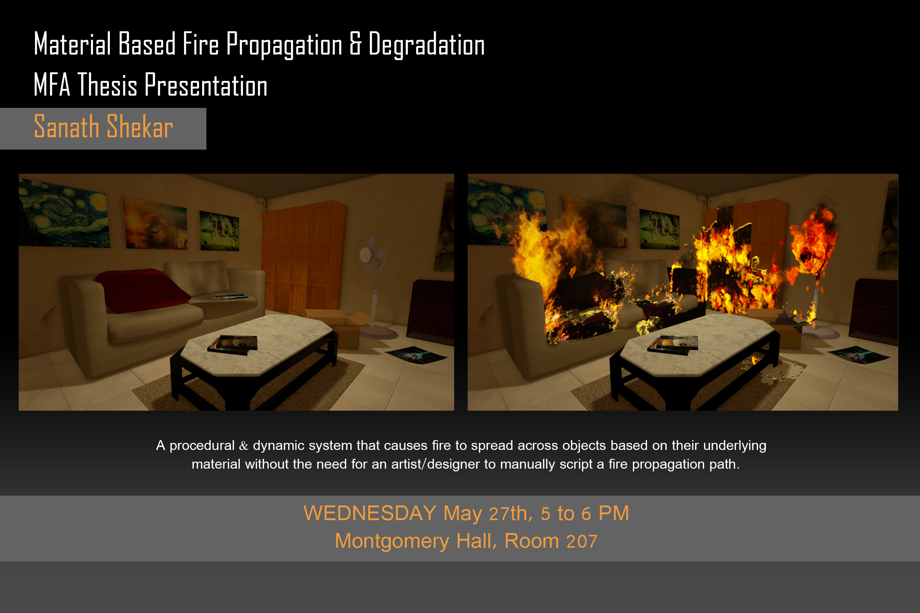 Material Based Fire Propagation & Degradation