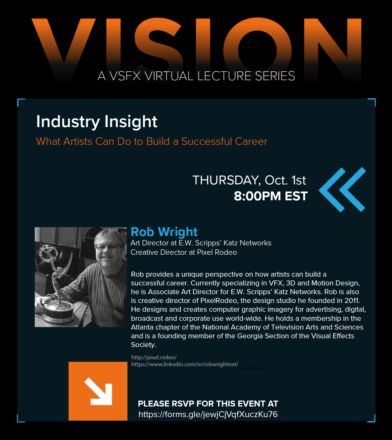VISION – A VSFX Virtual Lecture Series Presents… Rob Wright