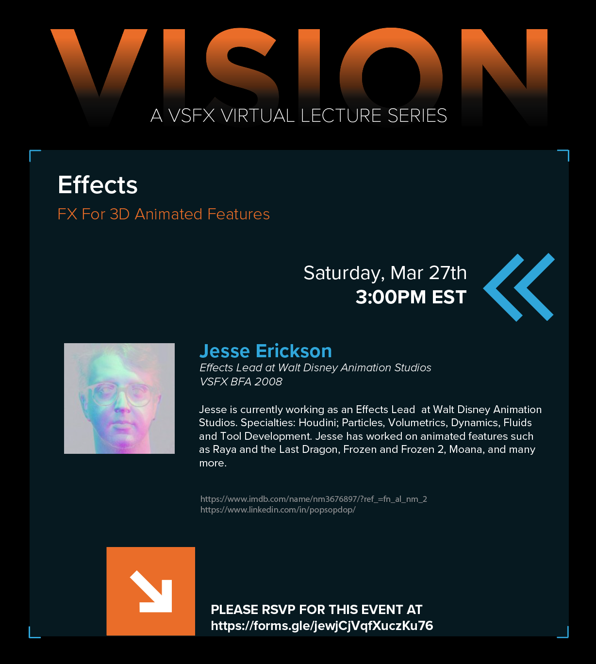 VISION – A VSFX Virtual Lecture Series
