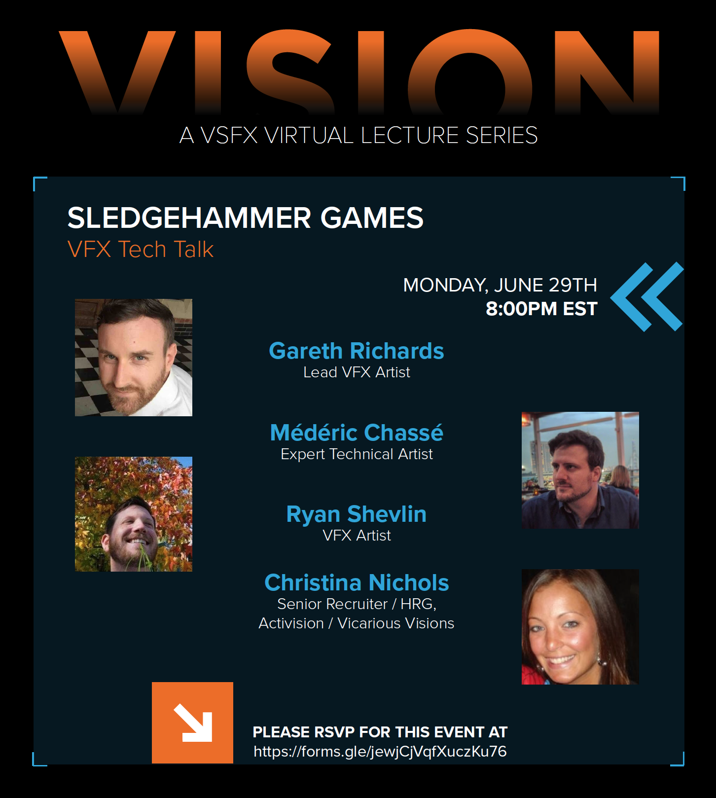VISION  Virtual Lecture Series presents Sledgehammer Games VFX Tech Talk