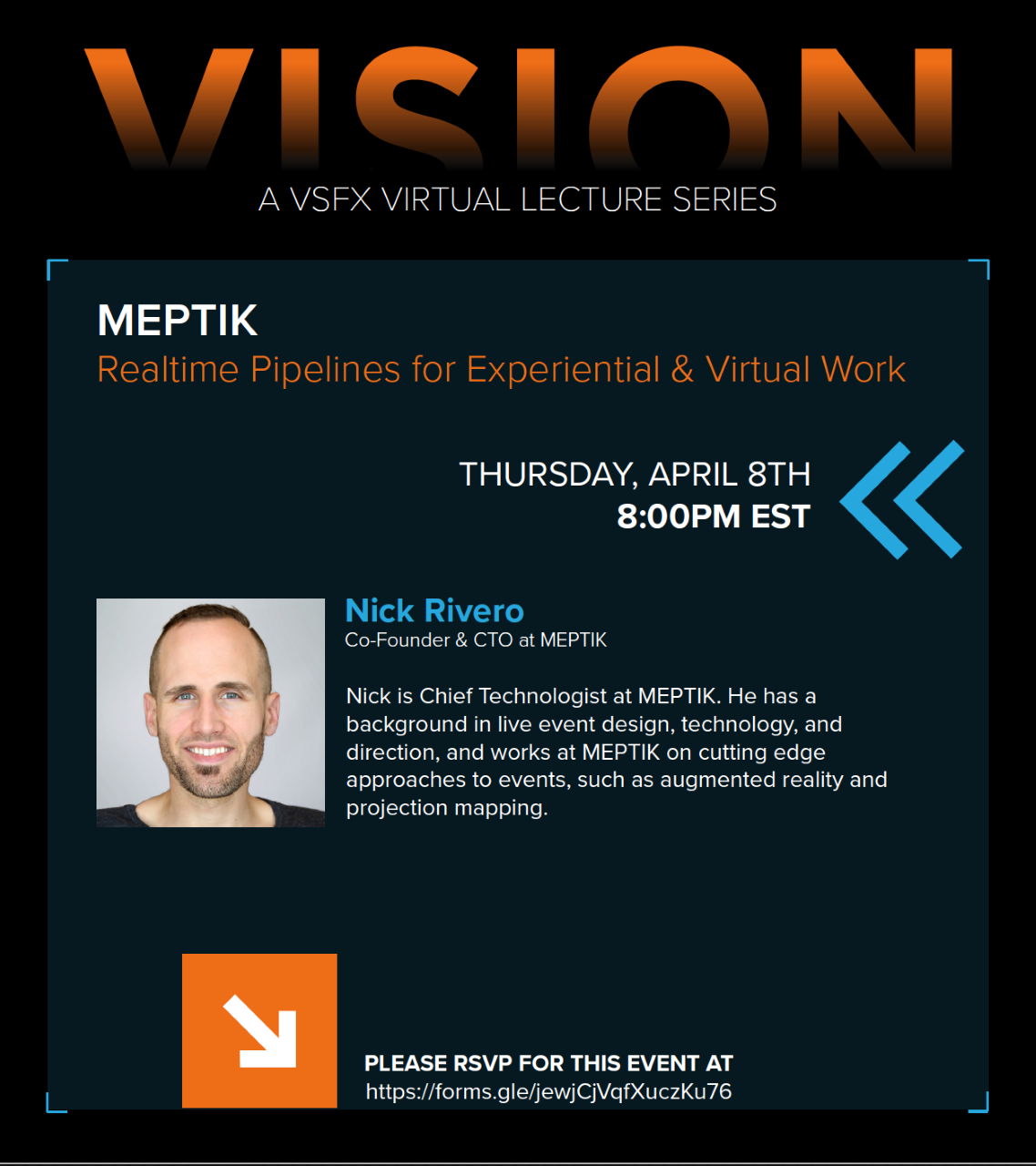 VISION – A VSFX Virtual Lecture Series presents – Nick Rivero