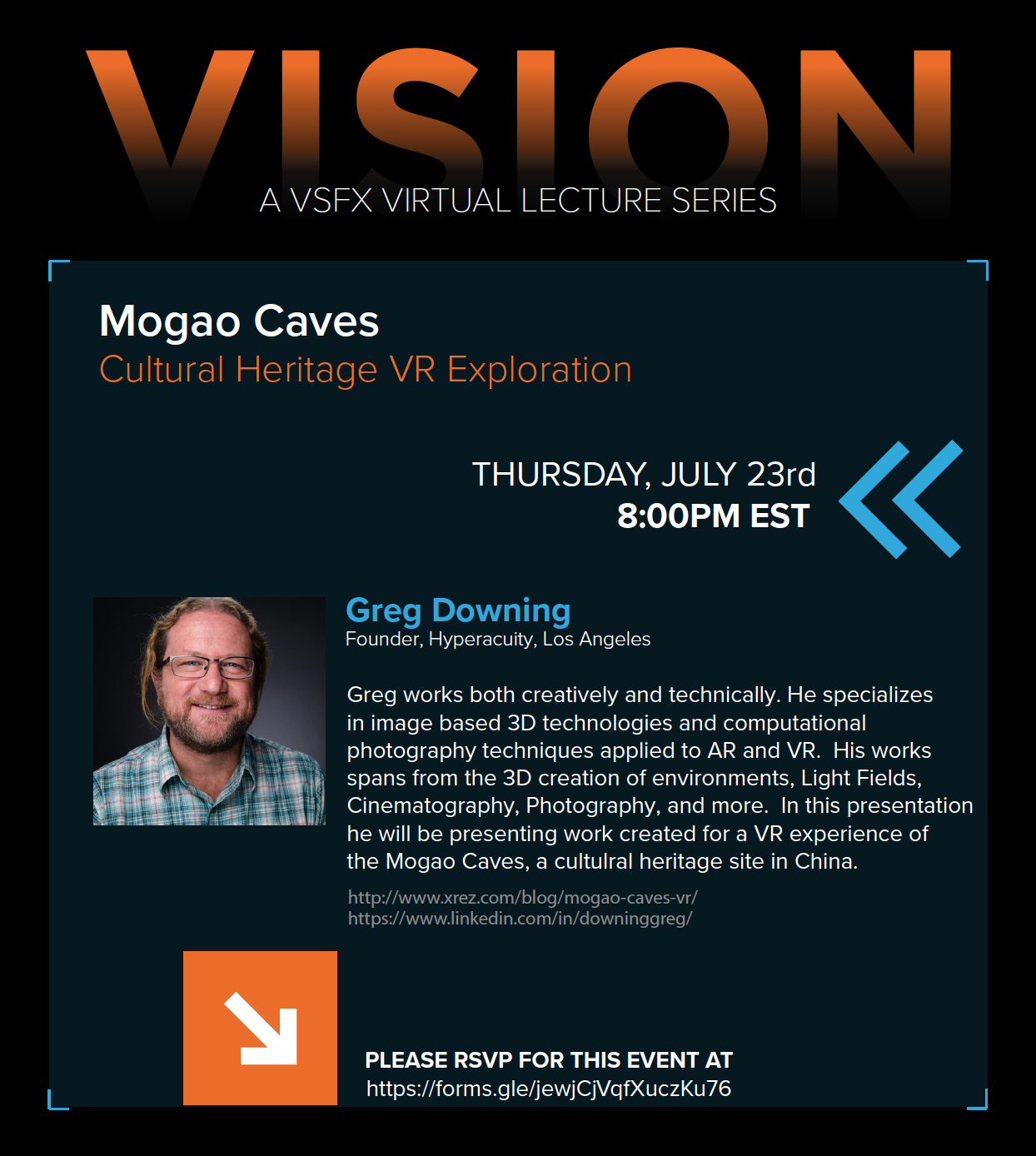 VISION A VSFX Virtual Lecture Series Presents – Greg Downing