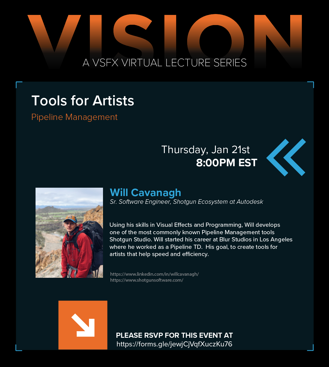VISION Virtual Lecture Series Presents – Will Cavanagh