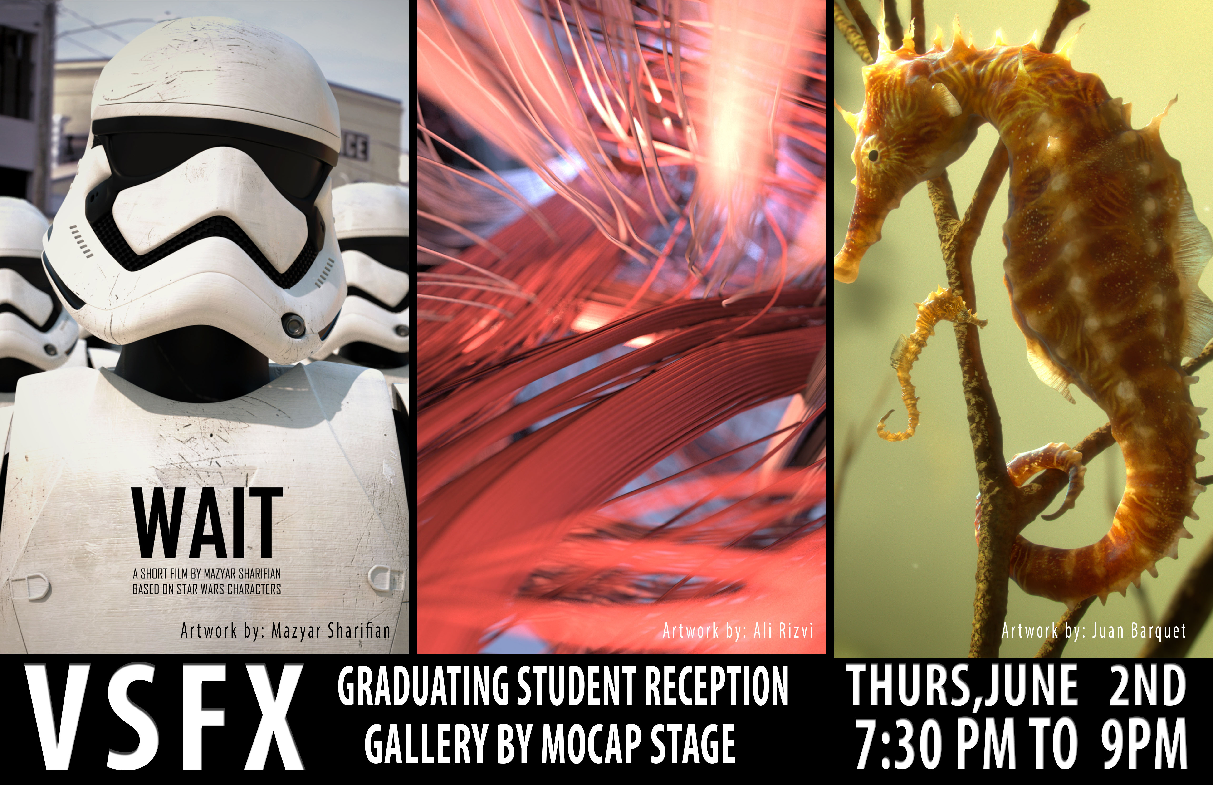 VSFX Graduating Student Reception Gallery By Mocap Stage