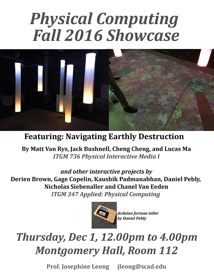 Physical Computing Fall 2016 Showcase