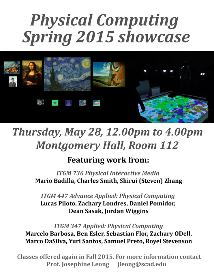 Physical Computing Spring 2015 Showcase